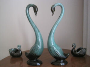 Blue Mountain Pottery swans