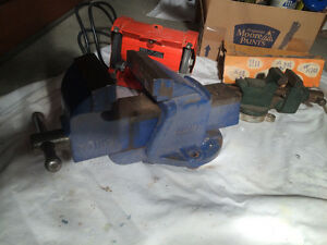 VISES  LARGE HEAVY DUTY   SMALL OLDER QUALITY VISE