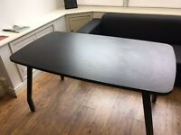 Black office table / desk