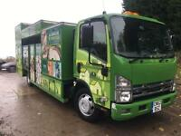 2012 62 ISUZU N75.190 Euro 5 recycling bodied tipper 48kms