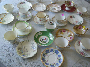 Fine Tea Cups/Saucers including Copeland Chinese Spode's Tower