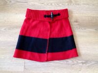 Ralph Lauren red black skirt in excellent condition 8-9 years old