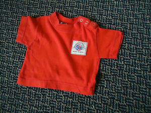 Baby 3-6 Months Red Short Sleeve T-Shirt