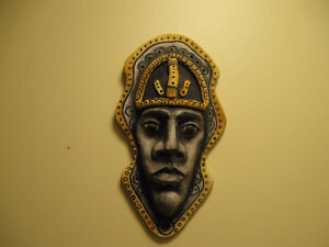 WALL FACE ORNAMENT- MADE OF POTTERY - HAND PAINTED