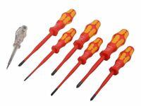 Wera Kraftform VDE Screwdriver Slimline Set, 7 Piece Ideal Gift set for xmas