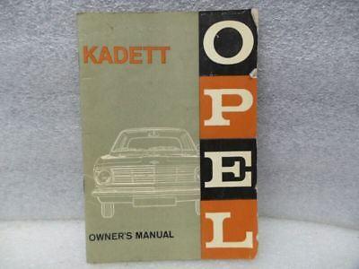 1966 Opel Kadett Owners Manual 17194 for sale  Willmar