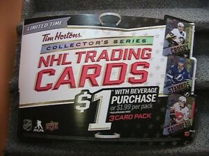 Tim Hortons Hockey cards advertising Sidney Crosby