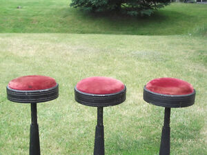 Set of Three Vintage Soda Fountain Stools Belleville Belleville Area image 3