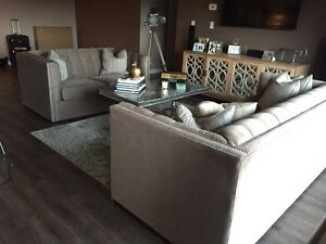 Like NEW! Gorgeous Neutral colour Couch and Love Seat