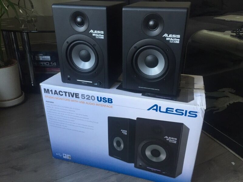 alesis m1 active 520 usb studio monitors in seven sisters london gumtree. Black Bedroom Furniture Sets. Home Design Ideas