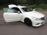Mercedes-Benz E 220 Coupe. GORGOUS IN WHITE. FULL MOT. A STELLA EXAMPLE.