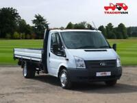 2014 64 FORD TRANSIT 2.2 TDCI 350 EXTENDED FRAME DROPSIDE DRW 125 BHP DIESEL