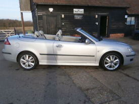 0757 SAAB 9-3 1.8t LINEAR ANNIVERASARY POWER ROOF CONVERTIBLE 79K FSH SILVER