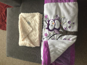 Two baby blankets