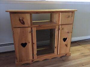 Solid Pine Bureau or Media Unit