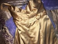 Gold bridesmaid dress by confetti and lace