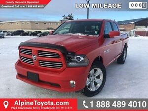 2014 Ram 1500 SPORT   low km, leather, heated steering wheel, to