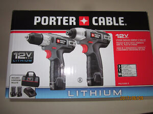 Cordless Drill/Driver and Impact Driver Combo Set