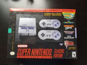 SNES Super Nintendo *Brand New in box with Recept*
