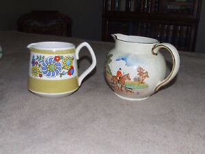 Two retro ceramic jugs