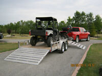 16' Aluminum Railside Trailer with rear and side bi-fold ramps