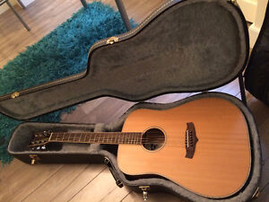 Tanglewood acoustic guitar with hardshell case and more