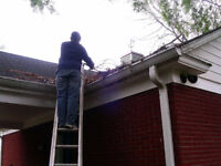 Plugged Gutters and Downspout Cleaning - Window Cleaners