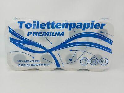 64 Rollen Toilettenpapier 2-lg, weiß recycling 250Blatt Großpackung (0,36€/1RO)