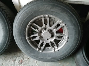 Four 265-70-R17 tires plus rims off a 2007 ford f150 4.6l.