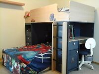 Bunk bed & mattresses & matching closet ,price to go