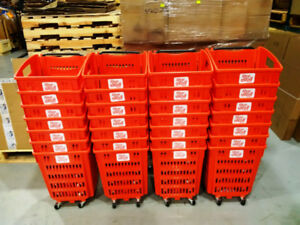 27 Large Rolling Shopping Baskets/Carts with 4 Wheels