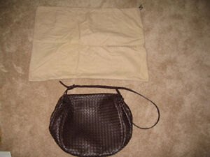 BV Brown Leather Cross-Body bag