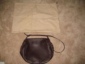 BV Brown Leather Cross-Body bag
