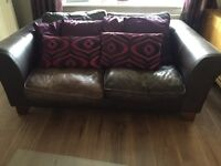 2 sofas 2/3 seater arm chair and foot stool quick sale