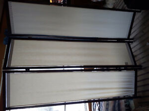 Wood and Canvas Room Divider