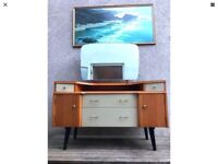 Vintage 1960s Dressing Table Desk Sideboard