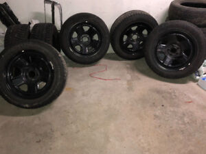 Champiro 235/55 R18 Winter Pro tires with Black Rims