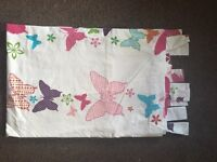 Butterfly bedroom set, lamp shade, curtains, bedding, lamp, clothes hanger