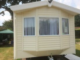 2016 Willerby 2 bedroom static holiday caravan near Bournemouth