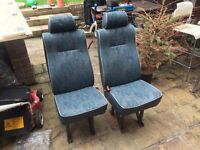 Crew Van Seats Extra passenger seats from Citroen Dispatch fiat Scudo universal fitment with belts