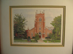 REDUCED - Signed and Framed Print by J. Livingston London Ontario image 1