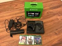 XBox One + Kinect, 2 Wireless Controllers + 3 Games