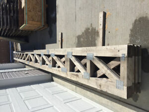 For Sale 8 Flat Trusses &  1 LVL Beam