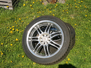 Set of 4 tires and rims price is obo