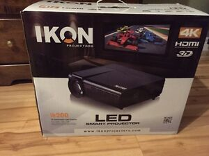 Brand new still in box LED projector and screen