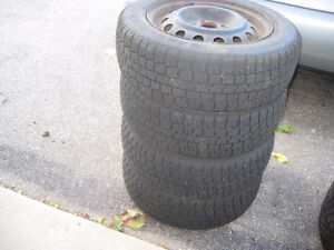185 65 14 winter tires on rims Cambridge Kitchener Area image 4