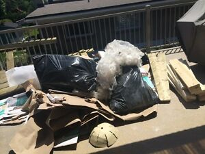Your moving? Have left over JUNK? Garbage bags? Ect?