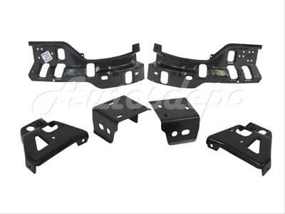 Bundle for 2011-2014 Silverado 2500Hd 3500 Front Bumper Impact Bracket Brace Set