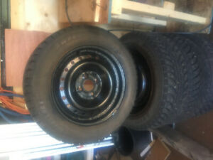 Studded Winter Tires 185 65 15 on Rims