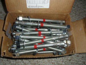 "26-HILTI ANCHORS #387515 KB - TZ 1/2"" X 7"" 28 Anchors New"